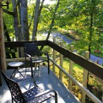 Guest Room Balcony - Wooded Side